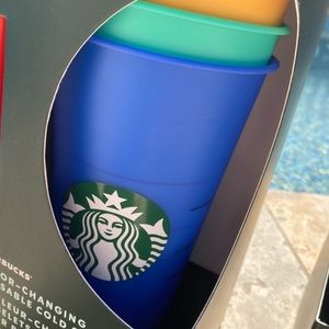 Starbucks Other - LAST SET New Starbucks Color Changing Cold Cups